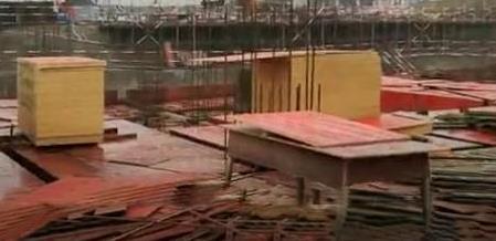 建筑模板使用现场
