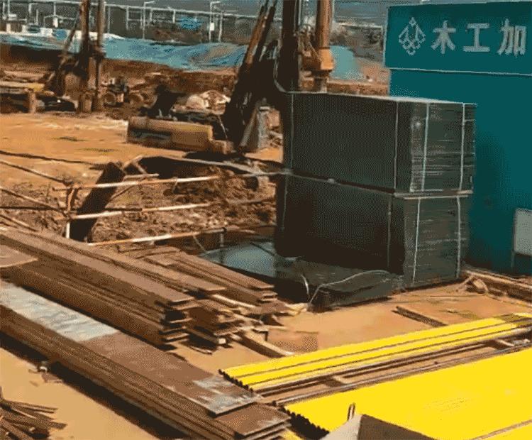 建筑模板在工地现场使用