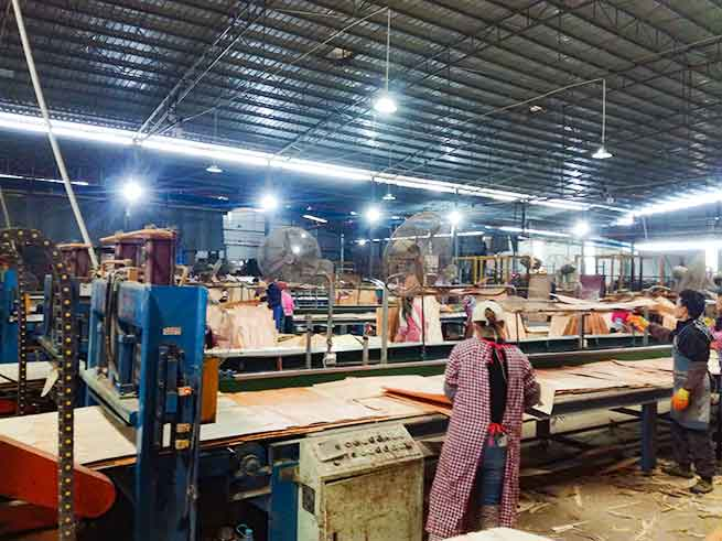 建筑胶合模板生产中